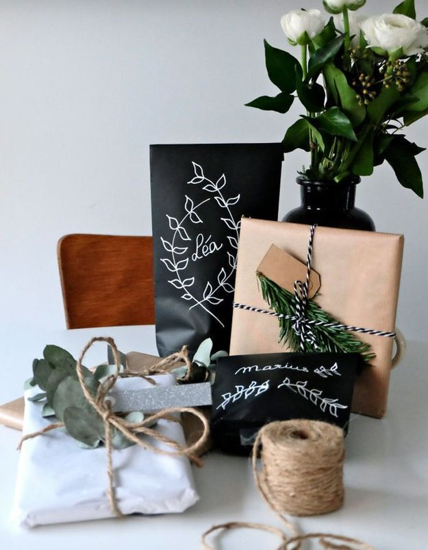 diy des paquets cadeaux d 39 inspiration v g tale elle d coration. Black Bedroom Furniture Sets. Home Design Ideas