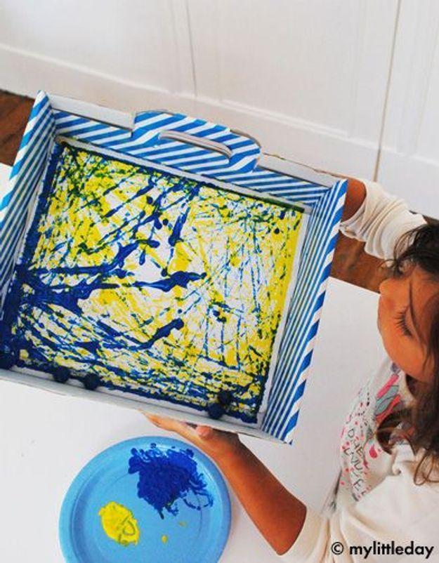 Do it yourself : un tableau à la manière de Jackson Pollock