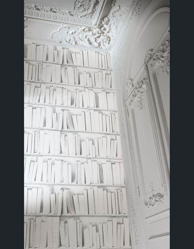Papier peint Bibliothèque Actuelle Blanche, Koziel