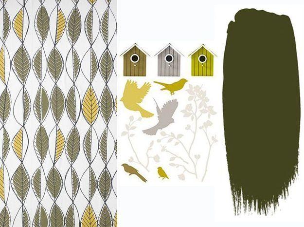 Associez votre papier peint à une peinture et un sticker
