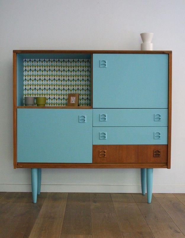 Du papier peint pour customiser un meuble scandinave