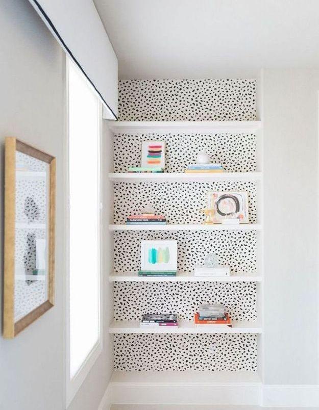 Du papier peint pour illuminer une bibliothéque
