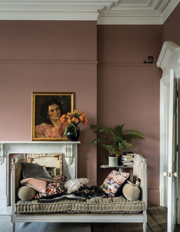 """La couleur de peinture """"Sulking Room Pink"""" en situation"""