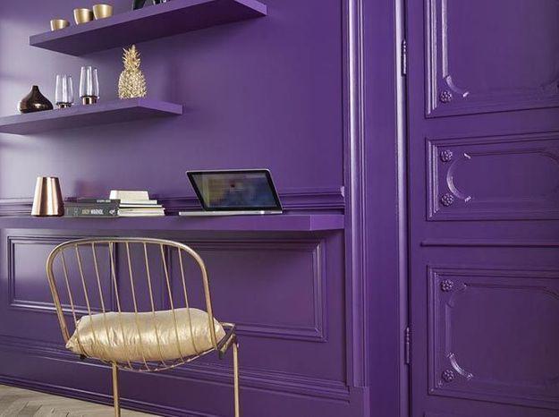 Une peinture violette pour un intérieur stylé