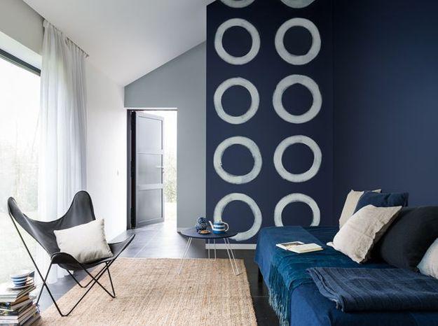 Salon bleu gris