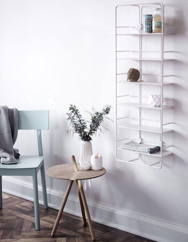 l 39 tag re murale ce rangement si d co qui relooke nos murs elle d coration. Black Bedroom Furniture Sets. Home Design Ideas