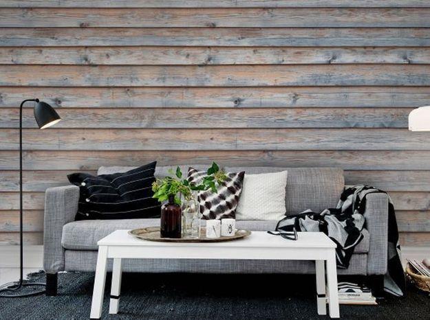 le on de d co comment cr er un effet bois au mur. Black Bedroom Furniture Sets. Home Design Ideas