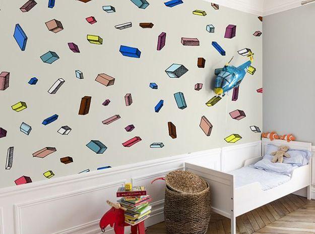 l 39 objet d co du jour le papier peint bien fait elle. Black Bedroom Furniture Sets. Home Design Ideas