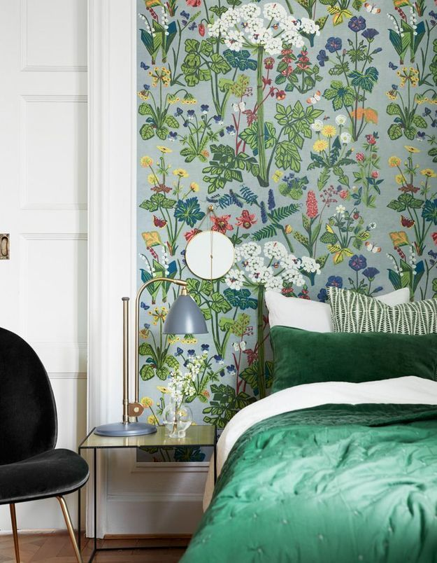 Papier peint fleuri Boråstapeter