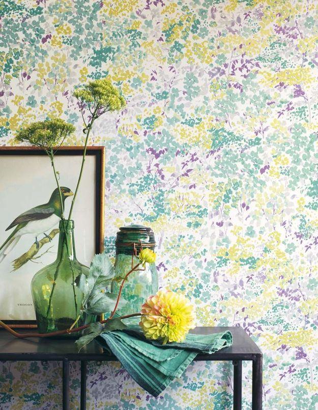 Papier peint fleuri Casadéco