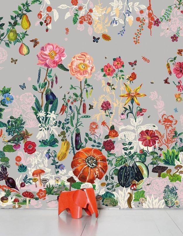 Papier peint fleuri Domestic