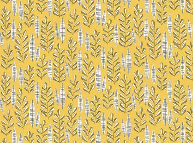 Un papier peint vintage jaune