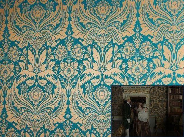 Un papier peint baroque comme dans Barry Lyndon (1975)