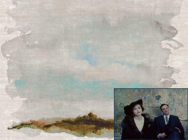 Un papier peint effet gouache comme dans Le Discours d'un Roi (2011)
