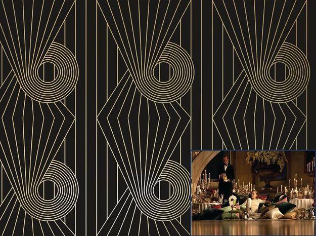 Un papier peint style Art Déco comme dans Gatsby Le Magnifique (2013)