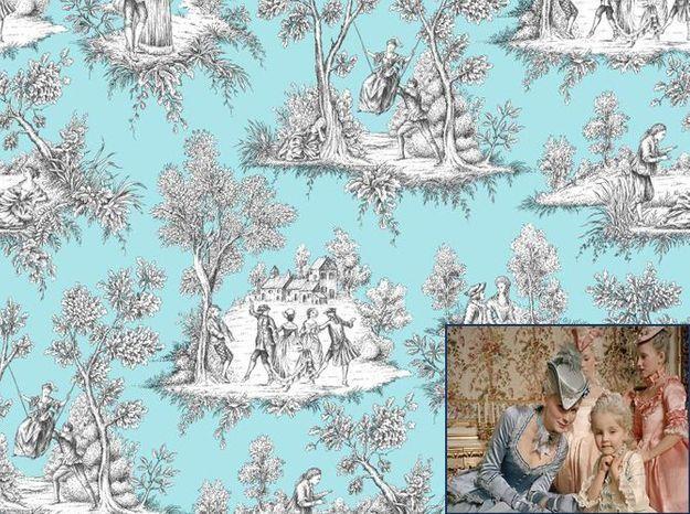 Un papier peint Toile de Jouy comme dans Marie-Antoinette (2006)