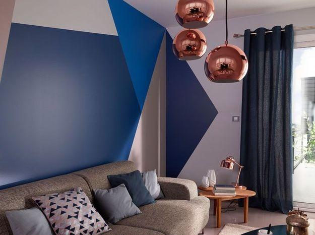 Des formes géométriques sur les murs