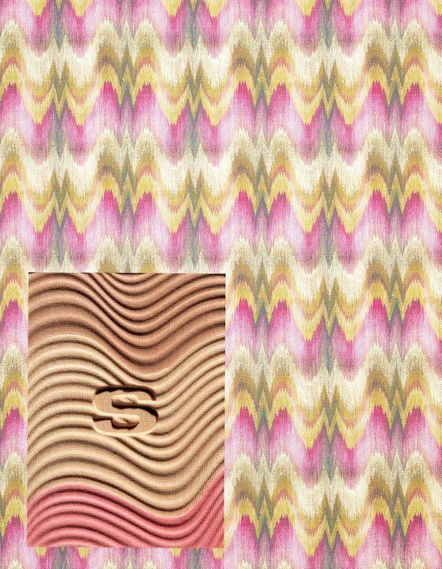 Tissu effet vagues