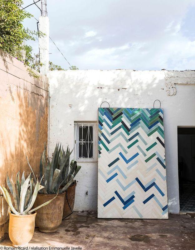 Dans un atelier de création de carreaux de ciment à Marrakech