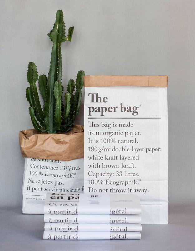 Des sacs en papier kraft pour... tout