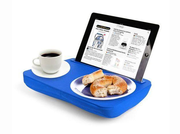 Un coussin pour tenir votre tablette