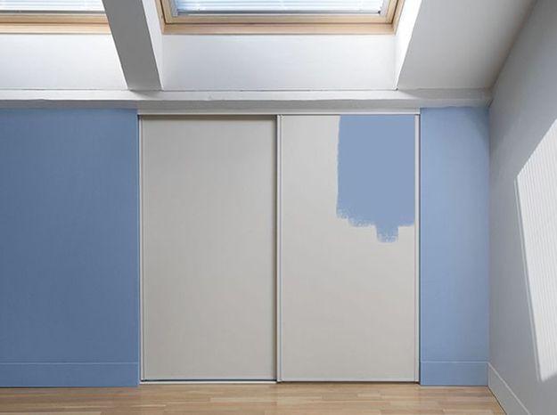 Des portes de placard à peindre ou tapisser