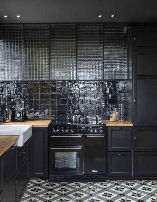 Carreaux de ciment élégants dans la cuisine