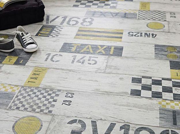 Castorama rouleau vinyle design taxi