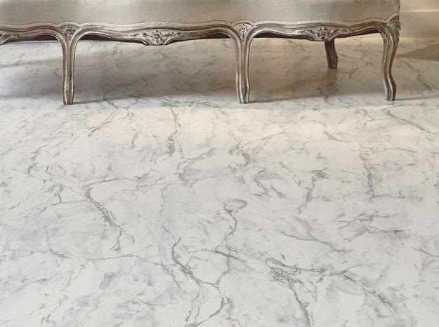 Sol en vinyle aspect marbre