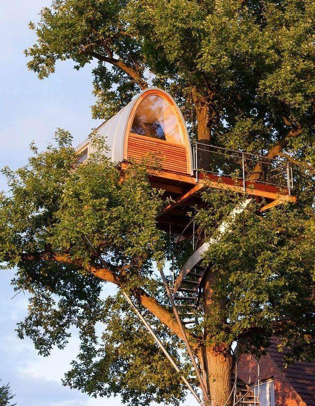 Une cabane d'architecte perchée à 11 mètres de hauteur