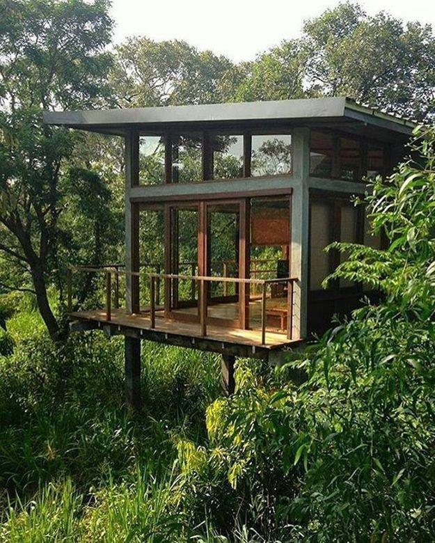 Une cabane d'architecte ouverte sur la nature