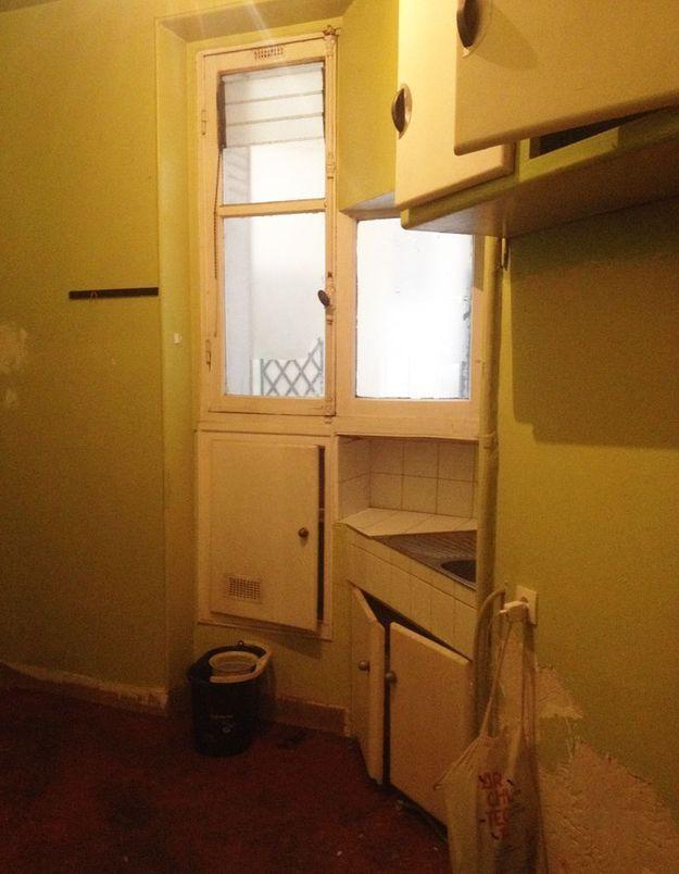 Avant : Un coin cuisine qui laisse à désirer