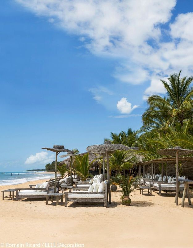 Uxua Praia, sur la plage