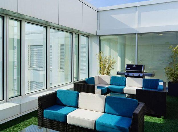 Un patio sur les toits pour décompresser