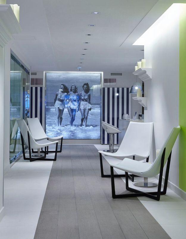 Salon d'accueil du spa de l'hôtel