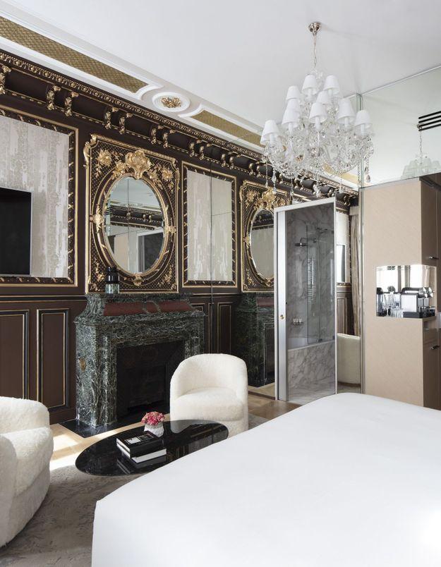 La chambre de l'hôtel Bowmann à Paris