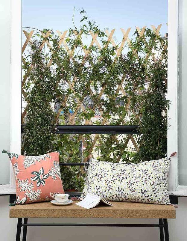 Un rideau de fleurs