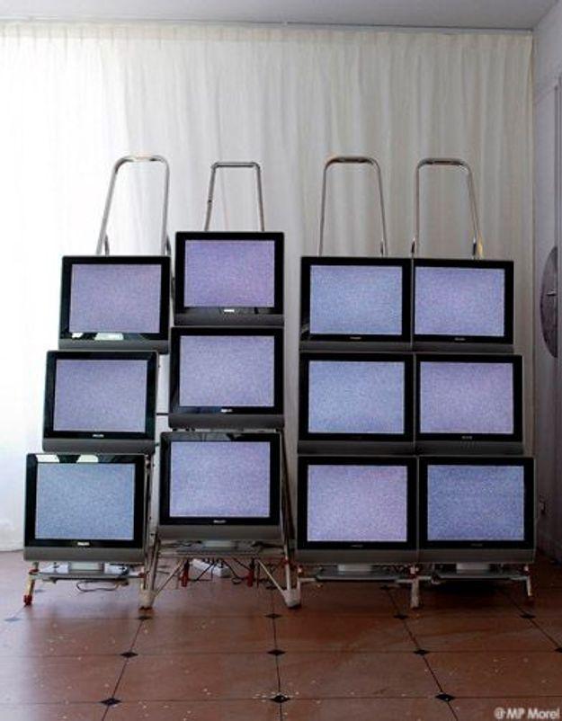 Un mur d'écrans