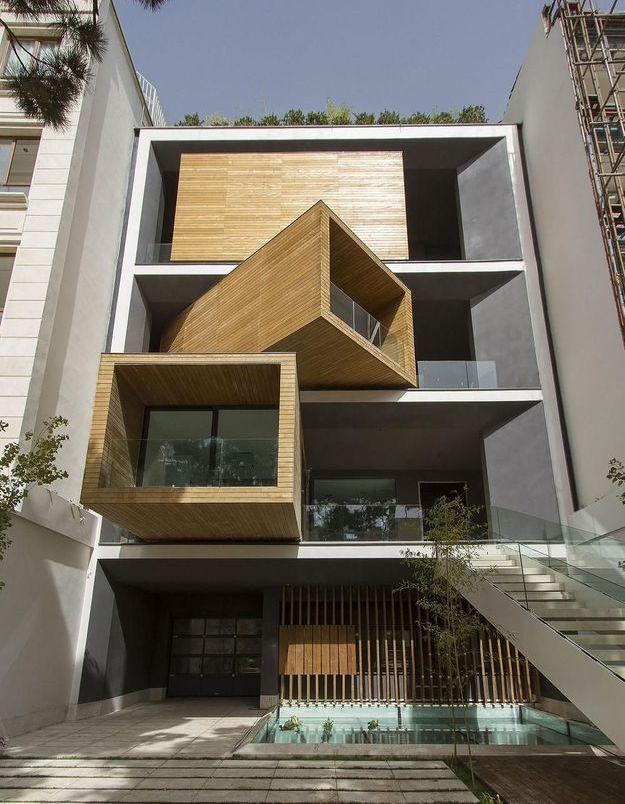 Une maison d'architecte aux chambres qui pivotent à Téhéran