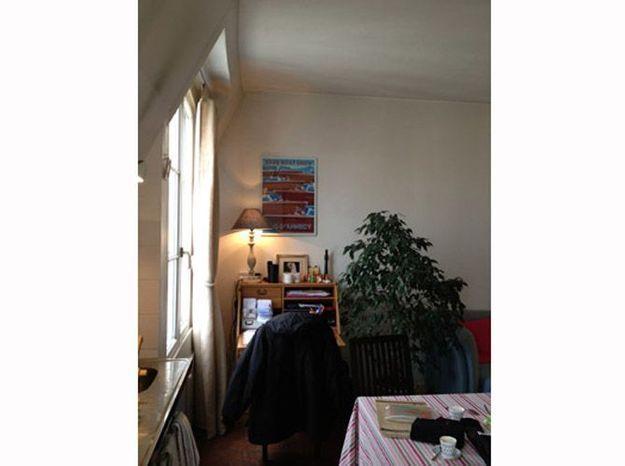 Avant: une pièce à vivre encombrée et sombre