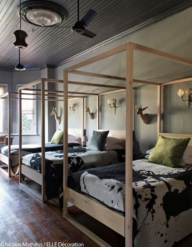 Chambre esprit dortoir