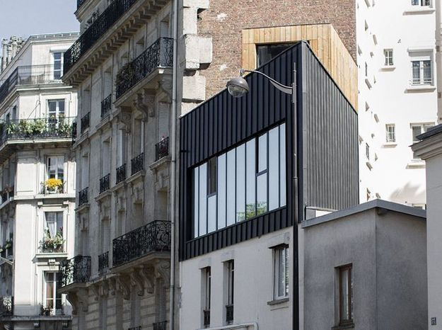 Une maison de ville triangulaire