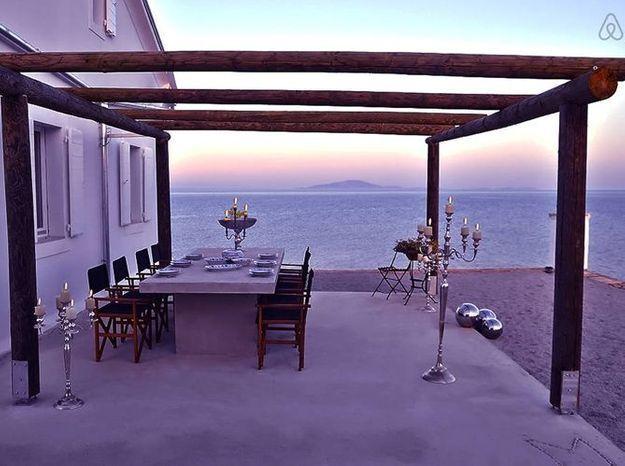 Terrasse face a la mer