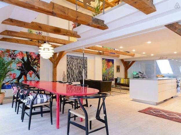 Appartement loft meubles danois