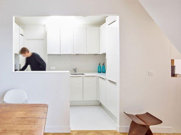 Une cuisine ouverte ultra lumineuse