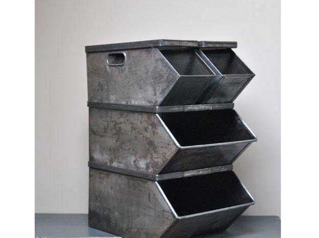 Les casiers en métal