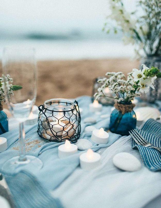 Définir un code couleur pour la déco de table de mariage