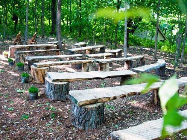 Installer des bancs en bois