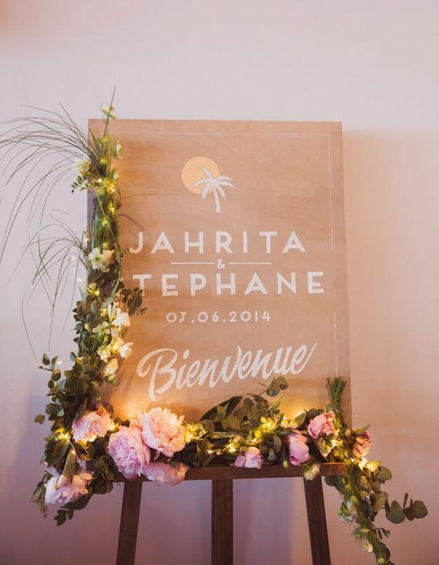 Affiche de bienvenue fleurie