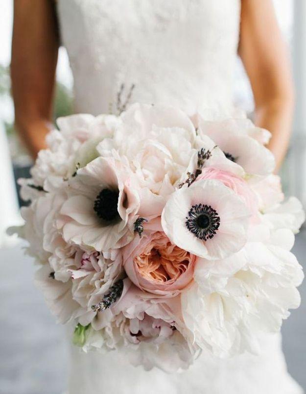 Bouquet de pivoines pour un mariage